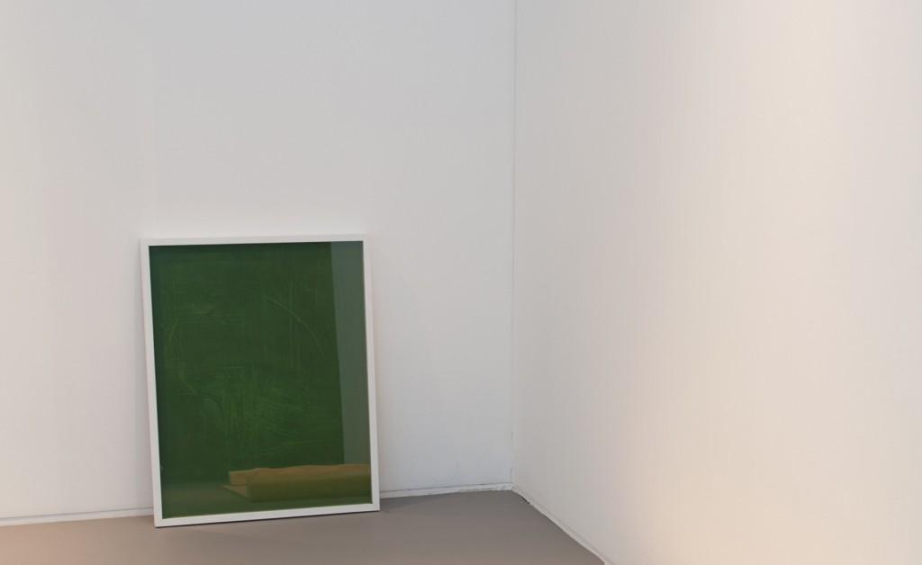 Maarten Overdijk, Untitled (2013), wax, wood, glass, 60 x 75 cm