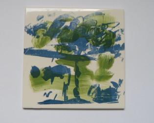 tegel met schildering
