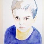 Flint, aquarel